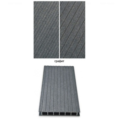 Террасная доска Gamrat графит 3000х160х25 мм