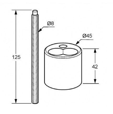 Удлинение для смесителя Kludi (7676005-00)