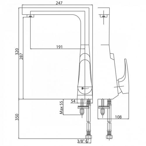 Смеситель для кухни Bianchi Plane (LVMPLN20010ACRM)