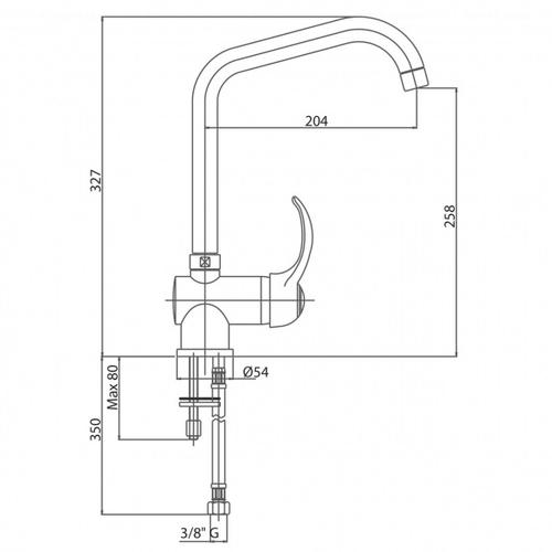 Смеситель для кухни Bianchi Delta (LVMDLT20120ACRM)