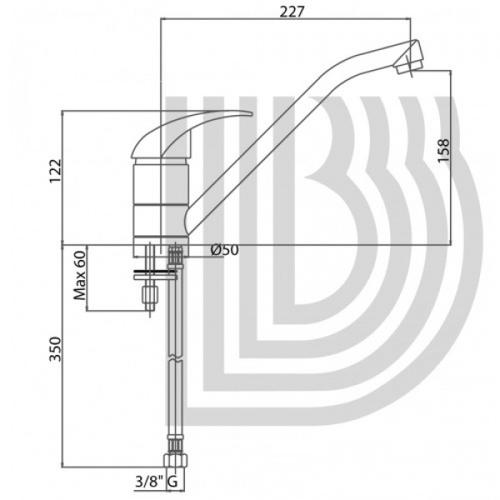 Смеситель для кухни Bianchi Pocket (LVMPKT20000ANKS)