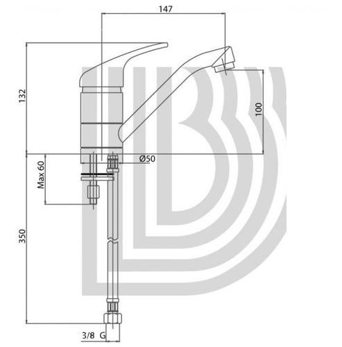 Смеситель для кухни Bianchi Pocket 100 никель никель