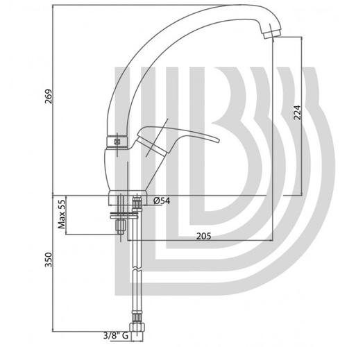 Смеситель для кухни Bianchi Star (LVMSTR20010ACRM)