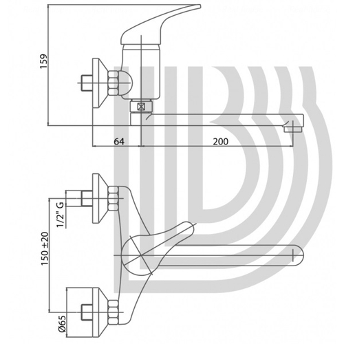 Смеситель для кухни Bianchi Star (LVPSTR200600CRM)