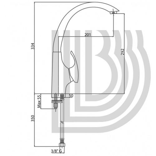 Смеситель для кухни Bianchi Century (LVMCEN2001ACRM)
