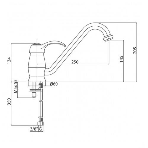 Смеситель для кухни Bianchi Class (LVBCLS20000ACRM)