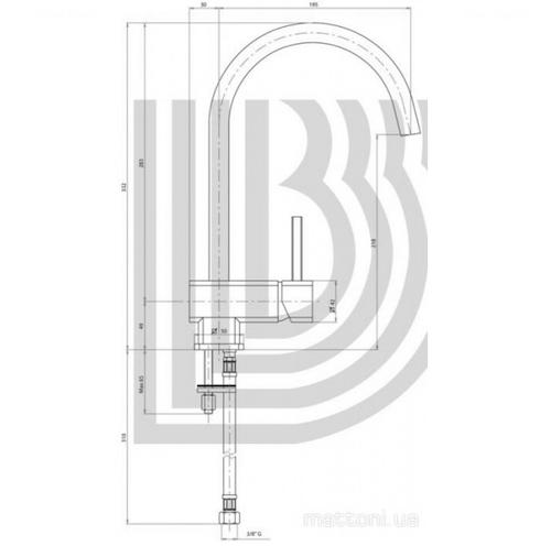 Смеситель для кухни Bianchi Kubik (LVMKBK20120ACRM)