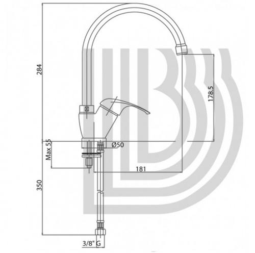 Смеситель для кухни Bianchi Mistral (LVMMST20010ACRM)