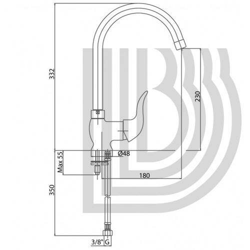 Смеситель для кухни Bianchi Aladino (LVMALD20010ACRM)