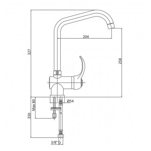 Смеситель для кухни Bianchi Class (LVMCLS2012FCRM)