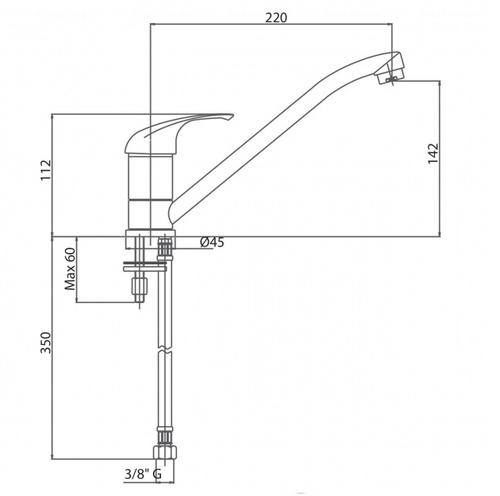 Смеситель для кухни Bianchi Mistral (LVMMST20000ACRM)
