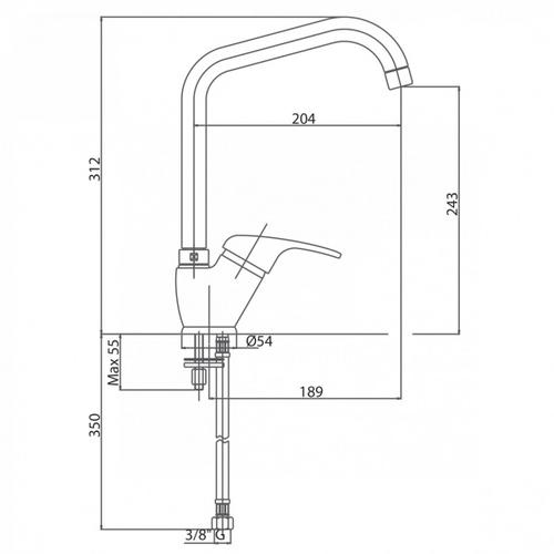 Смеситель для кухни Bianchi Star (LVMSTR20140ACRM)