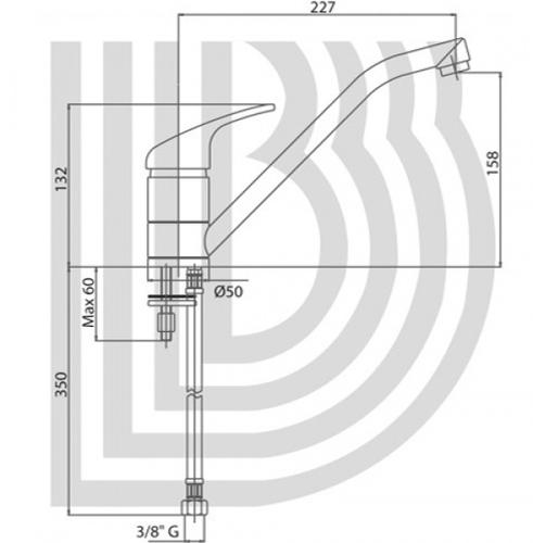 Смеситель для кухни Bianchi Star (LVMSTR20000ACRM)
