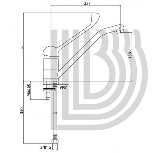 Смеситель для кухни Bianchi Star (LVMSTR2000LSCRM)