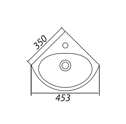 Рукомойник угловой Colombo Лотос 35 (S14273500)