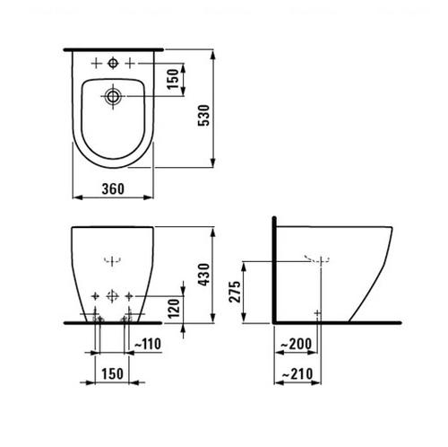 Биде напольное Laufen Pro (H8329520003021)