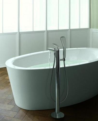Смеситель напольный для ванны и душа Kludi Balance хром хром