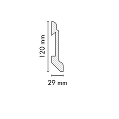 Плинтус AGT 2790х120х30 мм Голд 1999 (белый шелк 734)