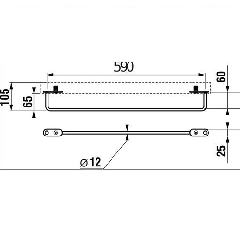 Полотенцедержатель для раковины Jika Tigo 65 (H3812110040001)