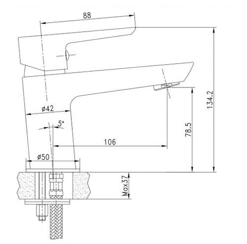 Смеситель для раковины Imprese Breclav 05245 хром хром