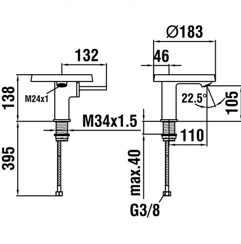 Смеситель для раковины Laufen Kartell (H3113310041101)