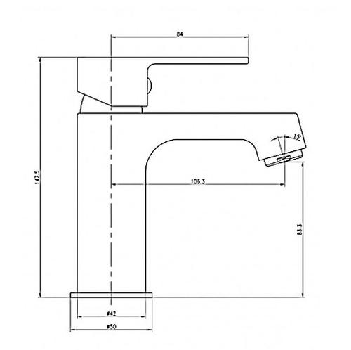 Смеситель для раковины Imprese Lesna 05070