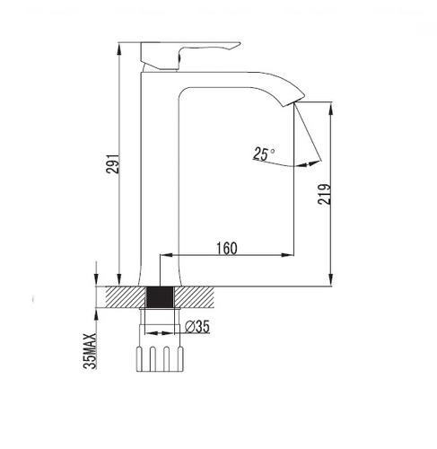 Смеситель для раковины Imprese Vyskov 05340-H