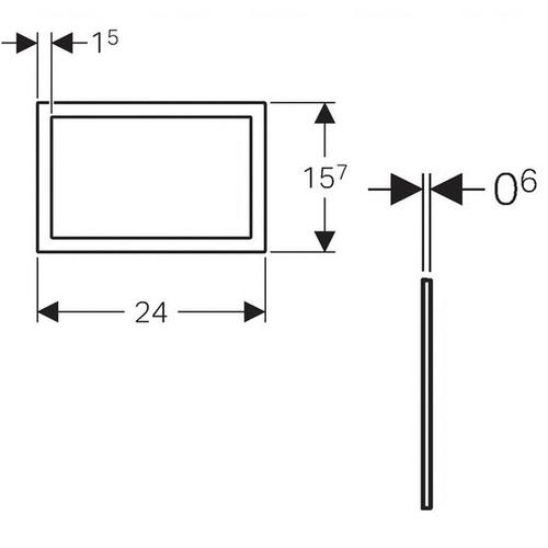 Облицовочная рамка для кнопки Geberit Sigma 60 хром глянец хром глянец
