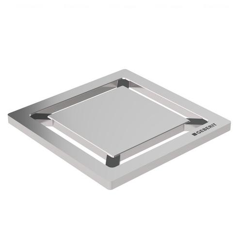 Накладная панель для душевого трапа Geberit, квадрат 8х8 см