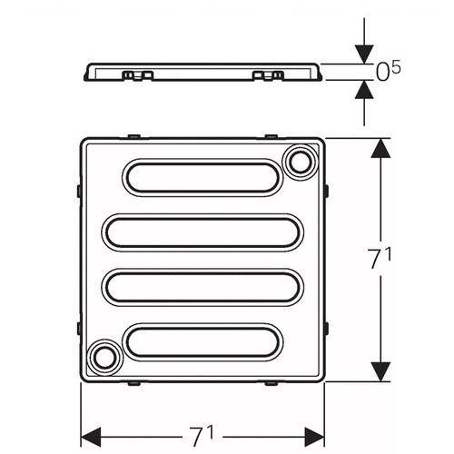 Накладная панель для душевого трапа Geberit 8х8 см
