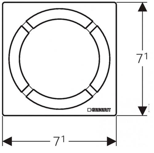 Накладная панель для душевого трапа Geberit, круг 8х8 см