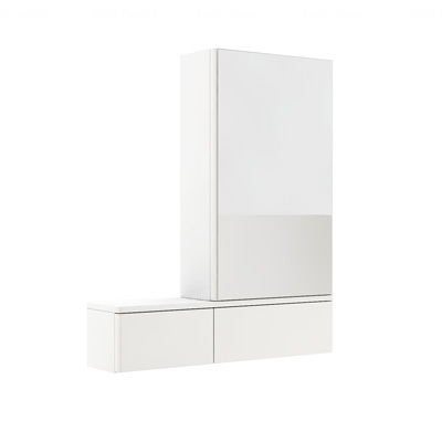 Шкафчик зеркальный Kolo Nova Pro 80 (правый) белый глянец белый глянец