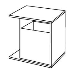 Шкафчик боковой для тумбы Keramag iCon xs 520 мм