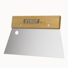 Зубчатый шпатель №1 для нанесения клея Stauf