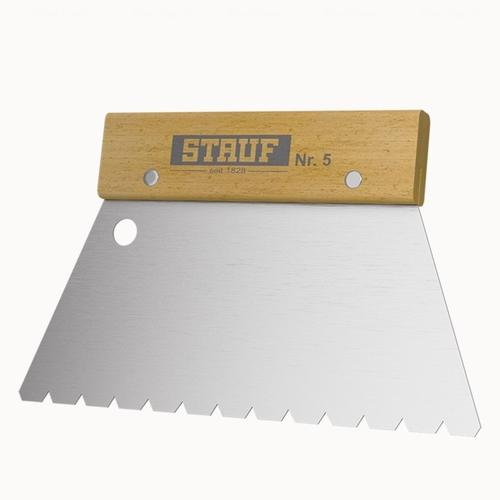 Зубчатый шпатель №5 для нанесения клея Stauf