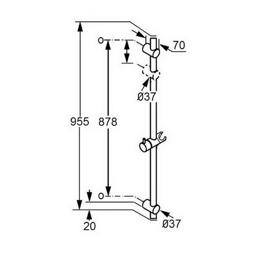 Душевая штанга Kludi A-QA 900 мм (6564105-00)