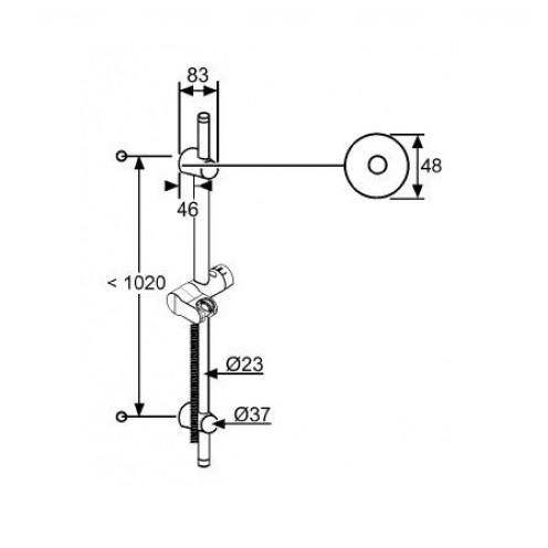 Душевая штанга Kludi A-QA 1100 (6209505-00)