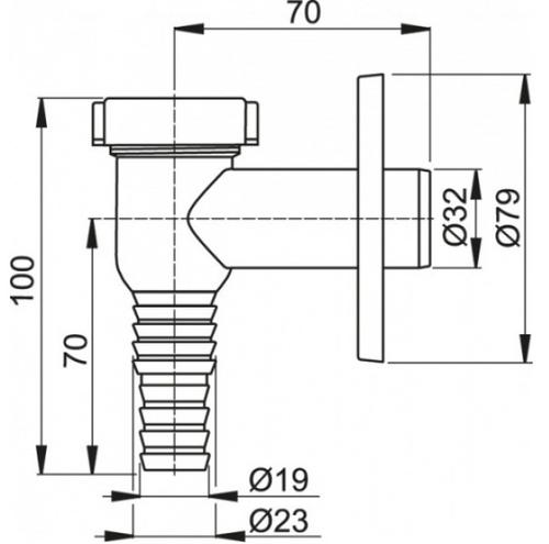 Сифон наружный для стиральной машины Alca plast APS1