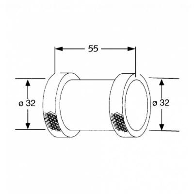 Соединение для труб Kludi (1043205-00)