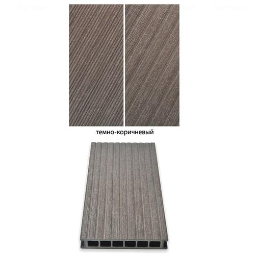 Террасная доска Gamrat темно-коричневый 3000х160х25 мм