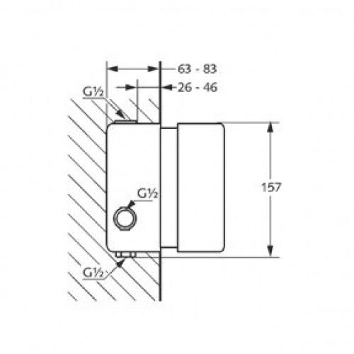 Внутренний блок термостата DN 15 Kludi 35156