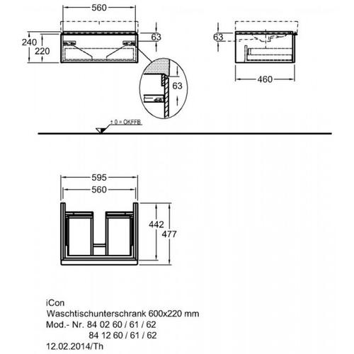 Тумба Keramag iCon 600 мм œƒальпийский глянец œƒальпийский глянец