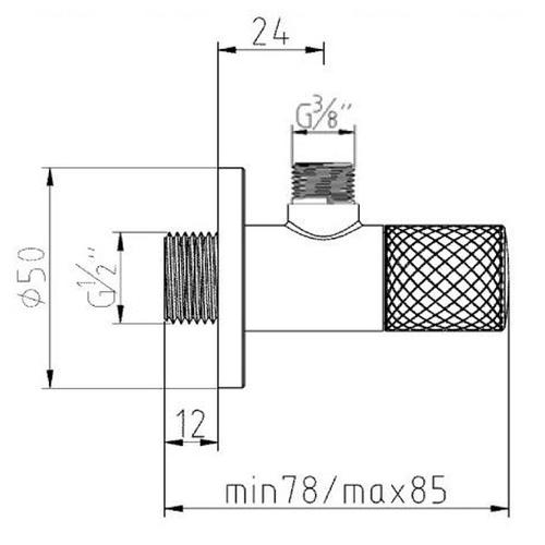 Угловой вентиль DN 15 Kludi 158450500