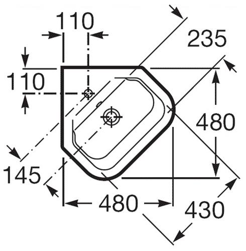 Умывальник Roca Gap 48 (A32747R000)