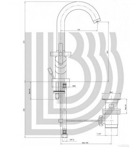 Смеситель для умывальника Bianchi Amelix (LVBAML1101IACRM)