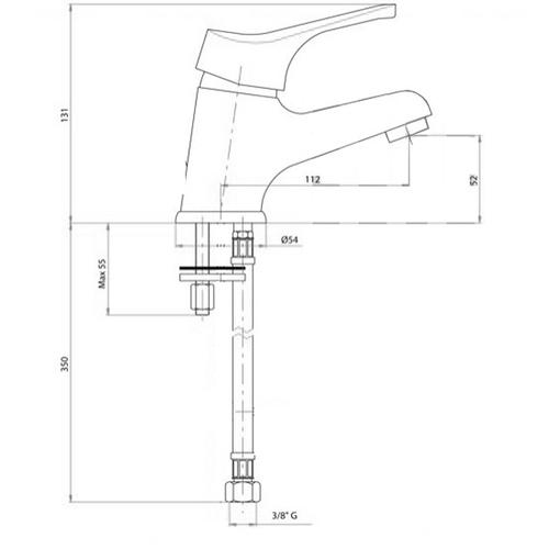 Смеситель для умывальника Bianchi Delta (LVBDLT2002SACRM)