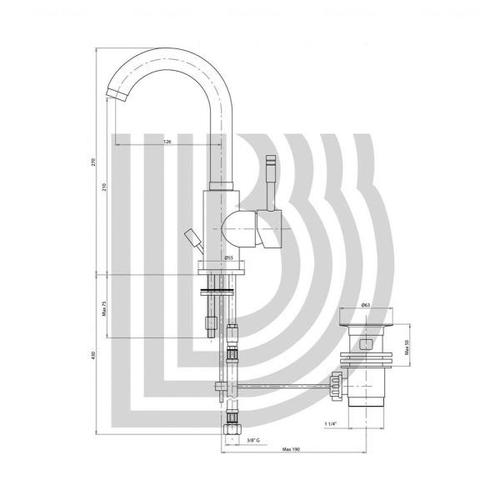 Смеситель для умывальника Bianchi Mody (LVBMDY2002IACRM)