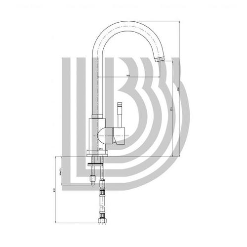 Смеситель для кухни Bianchi Mody (LVMMDY2000ACRM)