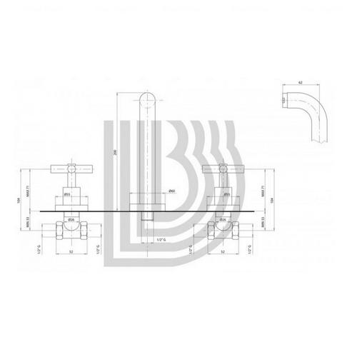 Смеситель для умывальника Bianchi Amelix (LVBAML1105CRM)