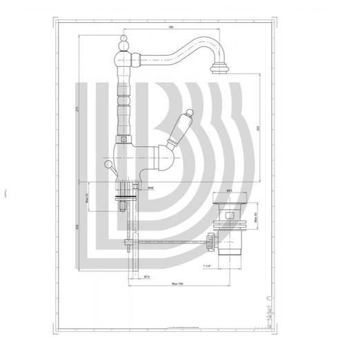 Смеситель для умывальника Bianchi Elite (LVBELT1055011IACRM)